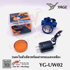 ไฟฉายคาดหัวปรับหรี่เเสงได้ 2 แสง รุ่น YG-UW02