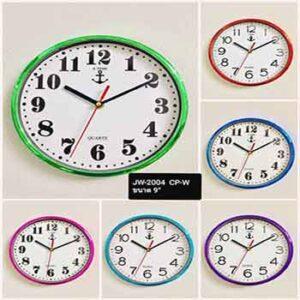 นาฬิกาผนังยี่ห้อ J-TIME หน้าปัดขาว JW-2004 ขนาด 9 นิ้ว