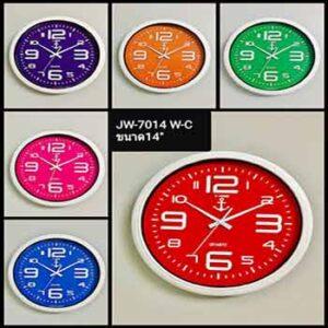 นาฬิกาแขวนยี่ห้อ J TIME รุ่น JW-7014 หน้าปัดขาว 14 นิ้ว