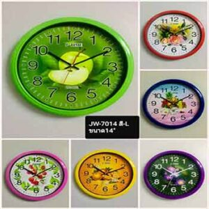 นาฬิกาแขวนตกแต่งยี่ห้อ JTIME รุ่น JW-7014 หน้าปัด 14 นิ้ว