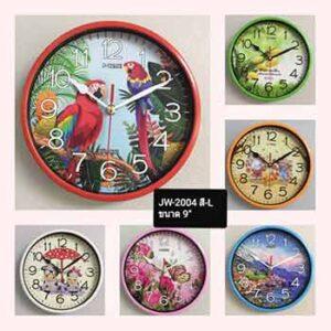 นาฬิกาแขวนหน้าปัดภาพสียี่ห้อ J-Time รุ่น JW-2004 ขนาด 9 นิ้ว
