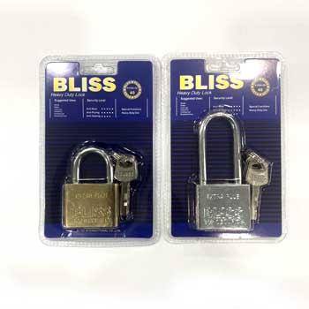 แม่กุญแจล็อคยี่ห้อ Bliss แบบลูกปืน ขนาด 40 mm.