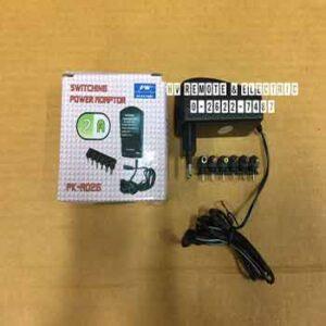 Adaptor ยี่ห้อ PK รุ่น A026 กำลังไฟ 2A มีหัวปรับโวลต์