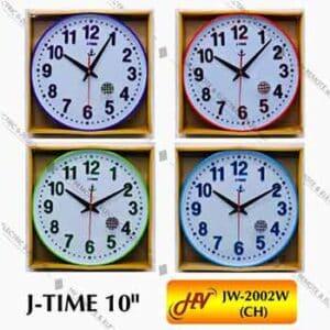 นาฬิกาผนังกรอบสียี่ห้อ J-TIME รุ่น JW-2002W ขนาด 10 นิ้ว