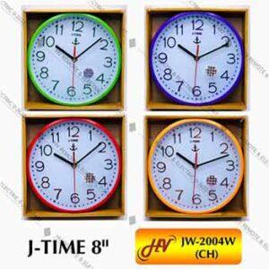 นาฬิกาฝาผนังยี่ห้อ J-TIME รุ่น JW-2004W ขนาด 8 นิ้ว