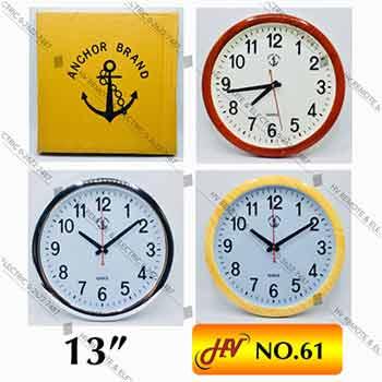 นาฬิกาผนังตราสมอแท้ รุ่น 61 ขนาด 13 นิ้ว