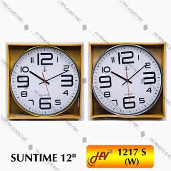 นาฬิกาฝาผนังยี่ห้อ SUNTIME 1217S หน้าปัด 12 นิ้ว