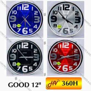 นาฬิกาผนัง 12 นิ้ว ยี่ห้อ GOOD รุ่น 360H