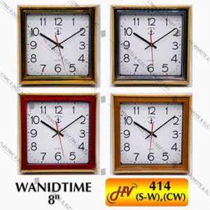 นาฬิกาแขวนทรงสี่เหลี่ยมจัตุรัสยี่ห้อ WANIDTIME รุ่น 414 ขนาด 8 นิ้ว