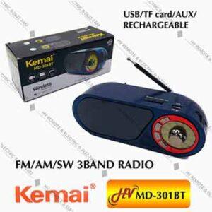 วิทยุไร้สายยี่ห้อ Kemai รุ่น MD-301BT
