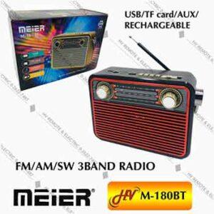 วิทยุฟังเพลงบลูทูธยี่ห้อ Meier รุ่น M-180BT