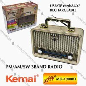 วิทยุฟังเพลงยี่ห้อ Kemai รุ่น MD-1908BT