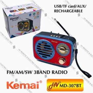 วิทยุฟังเพลงยี่ห้อ Kemai รุ่น MD-307BT