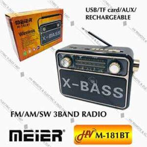 วิทยุฟังเพลงยี่ห้อ Meier รุ่น M-181BT