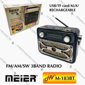 วิทยุฟังเพลงยี่ห้อ Meier รุ่น M-183BT