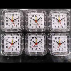 นาฬิกาปลุกแพ็ค 6 กรอบใสเหลี่ยม