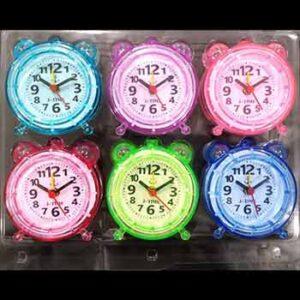 นาฬิกาปลุกแพ็ค 6 ชิ้น กรอบคละสี