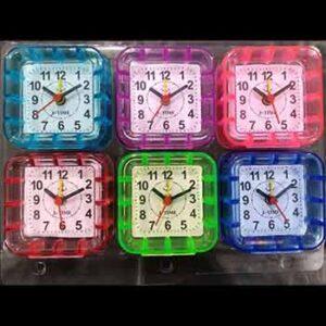 นาฬิกาปลุกแพ็ค 6 ทรงสี่เหลี่ยม