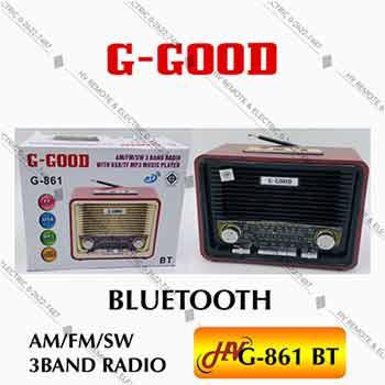 วิทยุรองรับบลูทูธยี่ห้อ G-Good รุ่น G-861BT