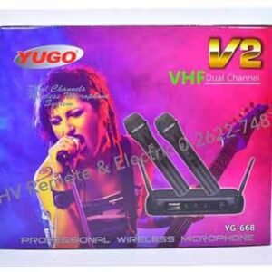 ไมค์คู่ 2in1 ยี่ห้อ YUGO รุ่น YG-668