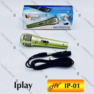 ไมค์สายยี่ห้อ Iplay รุ่น IP-01 ระบบ Dynanic สีเงิน