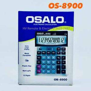 เครื่องคิดเลขยี่ห้อโอซาโล รุ่น OS-8900 จอ 12 หลัก
